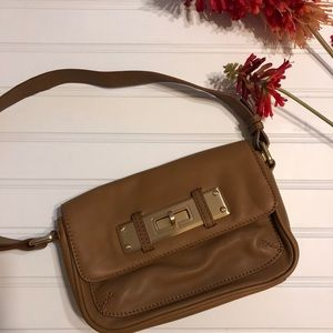 TALBOTS 100% Leather Tan Top Handle Like New Purse